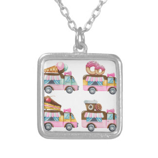 Sweet Ride Silver Plated Necklace