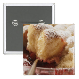 Sweet rolls (Buchteln) with icing sugar 2 Inch Square Button