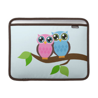 Sweet Romantic Owls Sleeve For MacBook Air