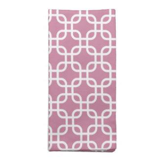 Sweet Rose Links Pattern Printed Napkin