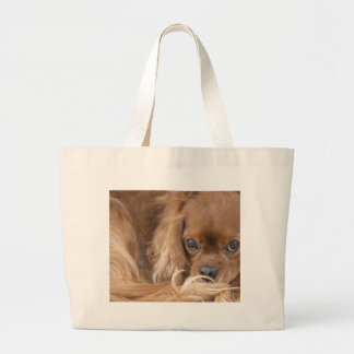Sweet Ruby Cavalier King Charles Spaniel Large Tote Bag