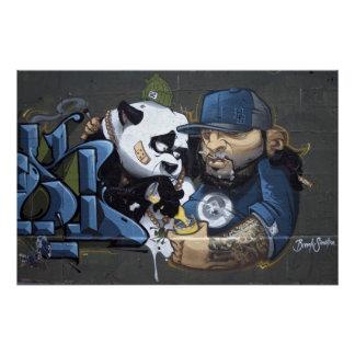 Sweet Sad Panda Found A Buddy Perfect Poster