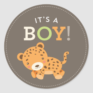 Sweet Safari Baby Shower Stickers