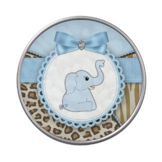 Sweet Safari Blue Elephant Baby Shower Candy