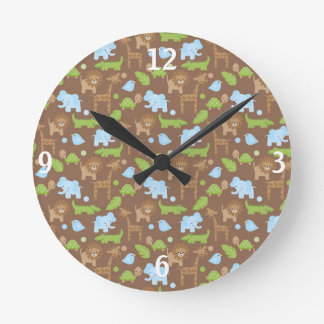 Sweet Safari Jungle Animals Nursery Clock