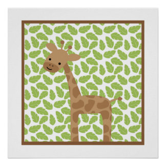 Sweet Safari Little Giraffe Nursery Wall Art
