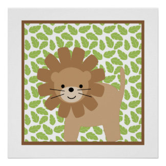 Sweet Safari Little Lion Nursery Wall Art