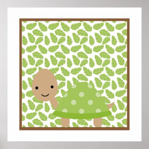 Sweet Safari Little Turtle Nursery Wall Art Print