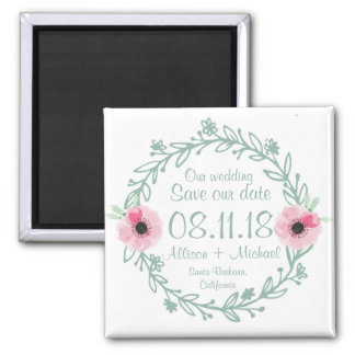 Sweet Sage Wedding Vine Save the Date Magnets