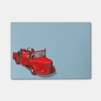 Sweet Santa Claus In Fire Engine Post-it Notes