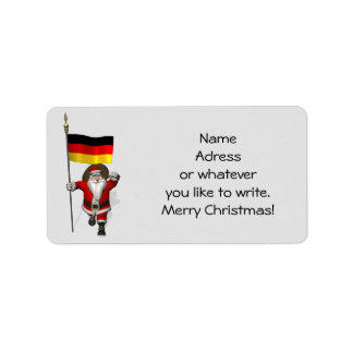 Sweet Santa Claus With Ensign Of Germany