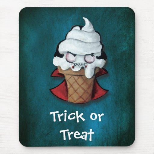Sweet Scary Ice Cream Vampire Mousepads
