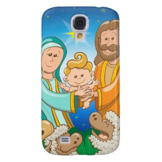 Sweet scene of the nativity of baby Jesus