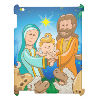 Sweet scene of the nativity of baby Jesus Case For The iPad