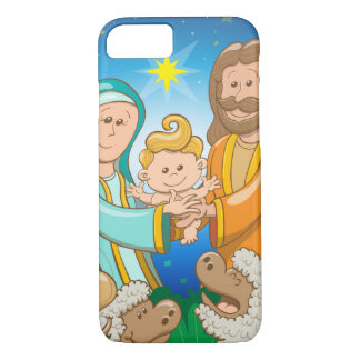Sweet scene of the nativity of baby Jesus Case-Mate iPhone Case
