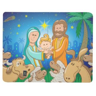 Sweet scene of the nativity of baby Jesus Journal
