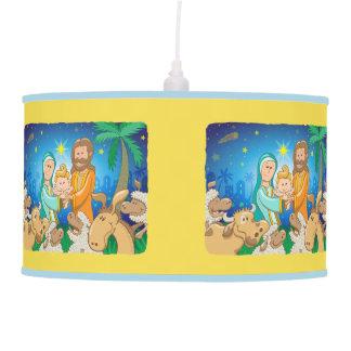 Sweet scene of the nativity of baby Jesus Pendant Lamp