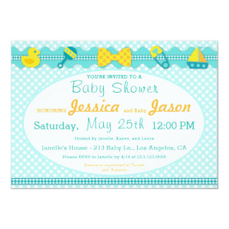 Sweet Scrapbook Boy Baby Shower Invitation