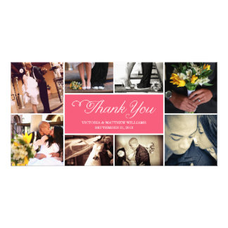 SWEET SCRIPT COLLAGE | WEDDING THANK YOU CARD CUSTOM PHOTO CARD