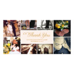 SWEET SCRIPT COLLAGE | WEDDING THANK YOU CARD PERSONALIZED PHOTO CARD