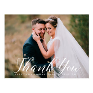 Sweet Script | Wedding Thank You Postcard