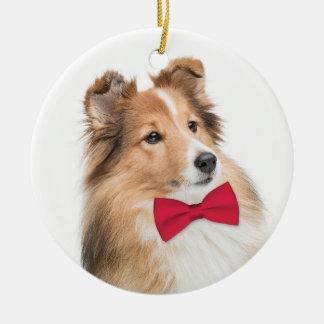 Sweet Sheltie Christmas Ornament
