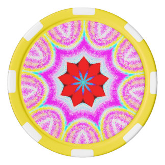 Sweet Sherbet Fractal Poker Chips
