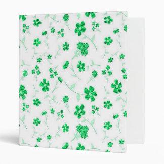 Sweet shiny floral binder