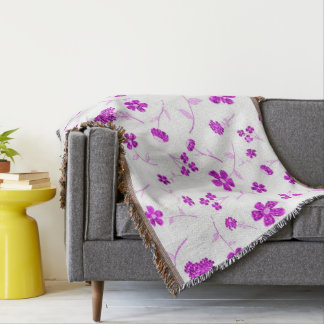 Sweet shiny floral throw