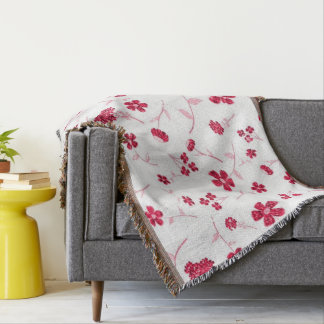 Sweet shiny floral throw blanket