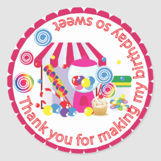 Sweet Shoppe Classic Round Sticker