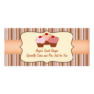 Sweet Shoppe Cupcake Business Gift Certificate Custom Rack Card