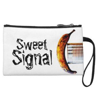 sweet signal wristlet clutch
