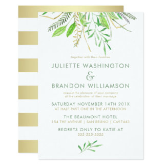 Sweet Simple Green Grass Wedding Card