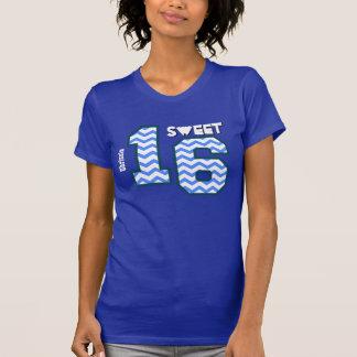 Sweet Sixteeen 16 Birthday Zig Zag Custom Name A05 T-Shirt