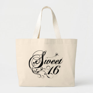 Sweet Sixteen 16 Quotes Tote Bags