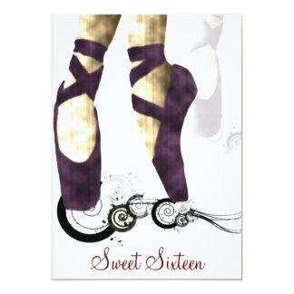 Sweet Sixteen Ballerina Party Invitation