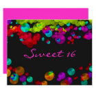 Sweet Sixteen Bat Mitzvah Neon Invitation