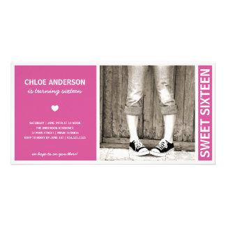 SWEET SIXTEEN | BIRTHDAY INVITATION CUSTOMIZED PHOTO CARD