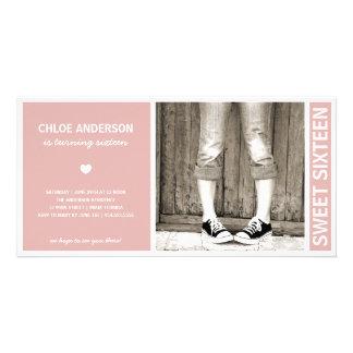 SWEET SIXTEEN | BIRTHDAY INVITATION PHOTO CARD TEMPLATE