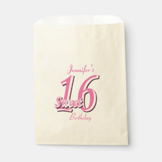 Sweet Sixteen Birthday | Pink Favour Bag