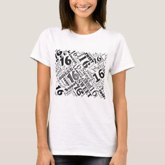 Sweet Sixteen Black&White Birthday Tshirt