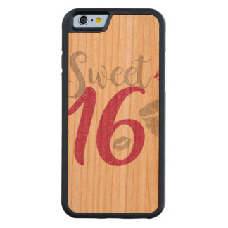 sweet-sixteen carved cherry iPhone 6 bumper case