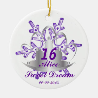 Sweet Sixteen Dream-Customize Ceramic Ornament