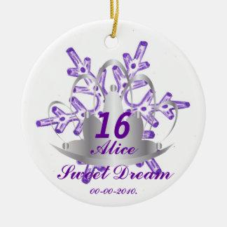 Sweet Sixteen Dream-Customize Round Ceramic Ornament