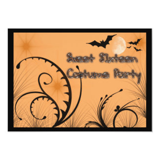 Sweet Sixteen Halloween Costume Party Invitation