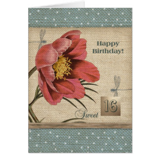 Sweet Sixteen Happy Birthday Greeting Cards