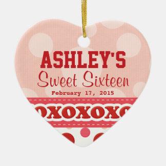 Sweet Sixteen Heart Theme Ornament
