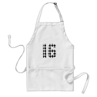 Sweet Sixteen Houndstooth Print Aprons