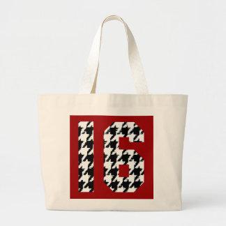 Sweet Sixteen Houndstooth Print Bag